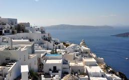 Ansicht von Thira Fira auf der Insel von Santorini Griechenland Stockfotografie