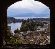 Ansicht von Thun, die Schweiz Stockfotos