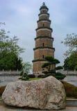 Ansicht von Tianran-Pagode in Yichang Hubei China Lizenzfreie Stockfotos