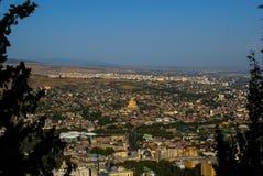 Ansicht von Tiflis - Hauptstadt von Georgia lizenzfreie stockbilder