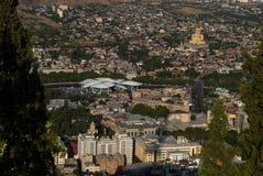 Ansicht von Tiflis - Hauptstadt von Georgia stockfoto