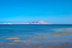 Ansicht von Tiran-Insel vom Roten Meer Stockbild