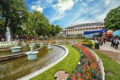 Ansicht von Tivoli-Gärten mit Brunnen Stockbilder