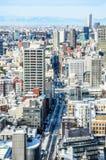 Ansicht von Tokyo-Stadt im Winter von Tokyo-Turm Stockfoto