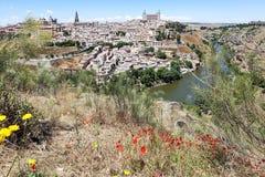 Ansicht von Toledo und von Tajo lizenzfreie stockbilder