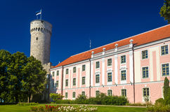 Ansicht von Toompea-Schloss in Tallinn stockbilder
