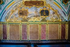 Ansicht von Topkapi-Palast in Istanbul, die Türkei lizenzfreie stockbilder