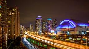 Ansicht von Toronto im Stadtzentrum gelegen stockbild