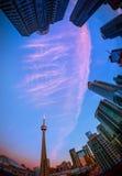 Ansicht von Toronto im Stadtzentrum gelegen lizenzfreies stockbild