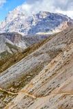 Ansicht von Tre Cime di Lavaredo Stockbilder