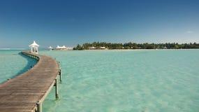 Ansicht von tropischer Paradiesinsel Lizenzfreie Stockbilder