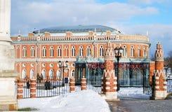 Ansicht von Tsaritsyno-Park in Moskau im Winter Stockfotografie