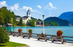 Ansicht von Ufergegend St. Wolfgang Stockfoto