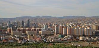 Ansicht von Ulan-Bator vom Berg Zaisan Stockbild