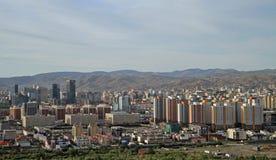 Ansicht von Ulan-Bator vom Berg Zaisan Lizenzfreies Stockfoto