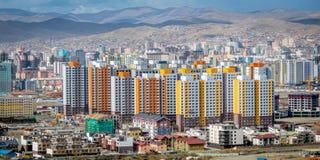 Ansicht von Ulan-Bator vom Berg Zaisan Lizenzfreie Stockbilder