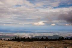 Ansicht von unserem Berg Stockfotografie