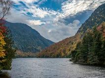Ansicht von unterem Ausable See im Adirondacks Stockfotografie