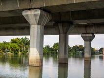 Ansicht von unterhalb der Brücke Stockfotos