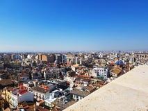 Ansicht von Valencia - Blick unten Stockfotografie