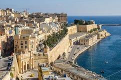 Ansicht von Valletta mit Victoria Gate Lizenzfreie Stockbilder