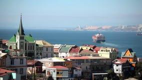 Ansicht von Valparaiso in Chile stock video