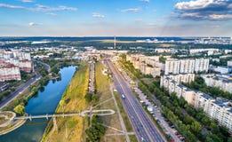 Ansicht von Vatutin-Allee in Kiew, Ukraine Stockfotos