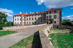 Ansicht von Veltrusy-Schloss stockfotos