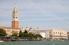 Ansicht von Venedig am sonnigen Tag Stockbild