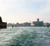 Ansicht von Venedig vom Kanal Lizenzfreie Stockfotografie