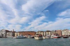 Ansicht von Venedig vom Seeufer Stockfotografie