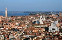 Ansicht von Venedig von Glockenturm stockfotos