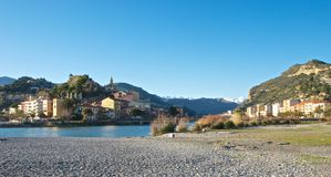 Ansicht von Ventimiglia Lizenzfreie Stockfotografie