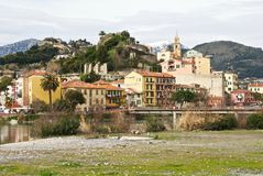 Ansicht von Ventimiglia Lizenzfreies Stockfoto