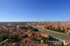 Ansicht von Verona-Skylinen in Verona, Italien Lizenzfreies Stockfoto