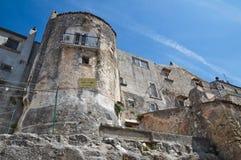 Ansicht von Vico Del Gargano. Puglia. Italien. Lizenzfreies Stockbild