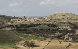 Ansicht von Victoria Citadel der umgebenden Landschaft Stockbild
