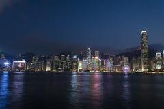 Ansicht von Victoria Harbour Lizenzfreie Stockfotos