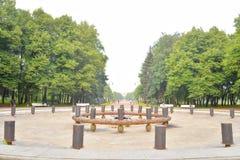 Ansicht von Victory Park in St Petersburg Stockfotografie