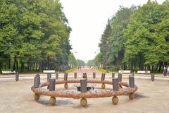 Ansicht von Victory Park in St Petersburg Stockbilder