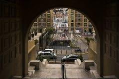 Ansicht von Vieux-Hafen Marseille Stockfotos