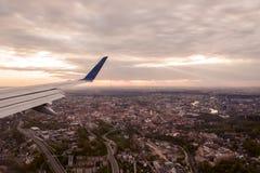 Ansicht von Vilnius von einem Flugzeug Stockbilder