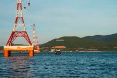 Ansicht von Vinpearl-Insel lizenzfreies stockfoto