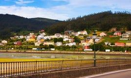 Ansicht von Viveiro mit Fluss Lugo Lizenzfreies Stockbild
