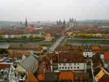 Ansicht von Würzburg Stockbild