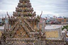 Ansicht von Wat Arun lizenzfreie stockfotografie