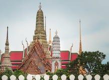 Ansicht von Wat Phra Kaew morgens Lizenzfreie Stockbilder