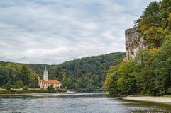 Ansicht von Weltenburg-Abtei, Deutschland Stockfotografie