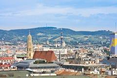 Ansicht von Wien Österreich Stockfotografie