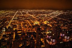 Ansicht von Willis Tower Chicago, USA Stockfotos